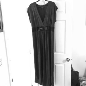 Dress, Maxi, Gray Sz 2X, Belted